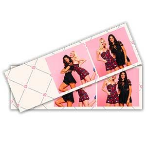 Cadre photobooth bandelette horizontale 2 photos