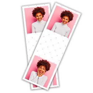 Cadre photobooth bandelette verticale 2 photos