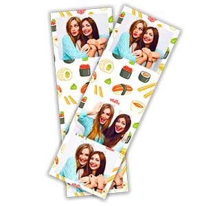 Cadre photobooth bandelette verticale 3 photos