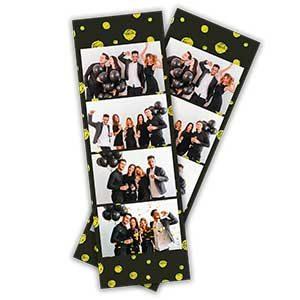 Cadre photobooth bandelette verticale 4 photos