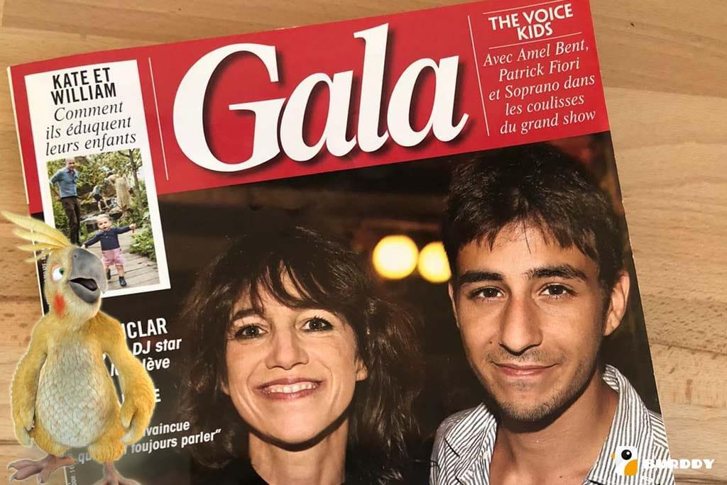 Burddy s'affiche dans le magazine GALA