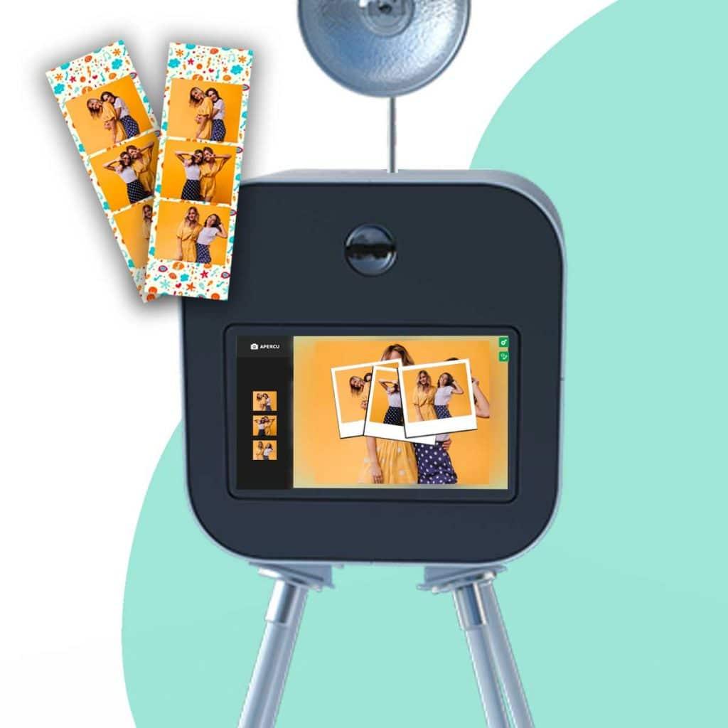 L'interface tactile de la box photo BURDDY est très simple à prendre en mains